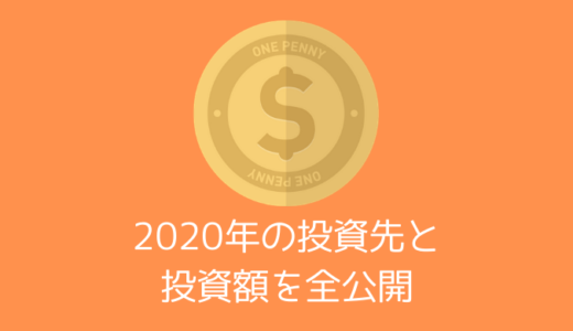 【投資】2020年の投資先・投資額を全公開