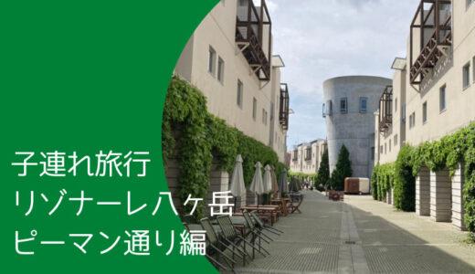 【子連れ旅行】リゾナーレ八ヶ岳 ピーマン通り編