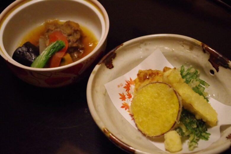 ホテル南風荘の夕食