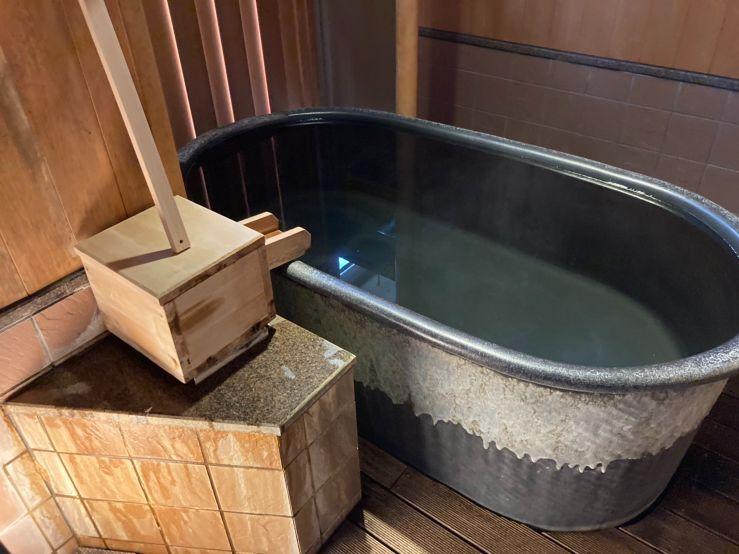 ホテル南風荘の客室露天風呂